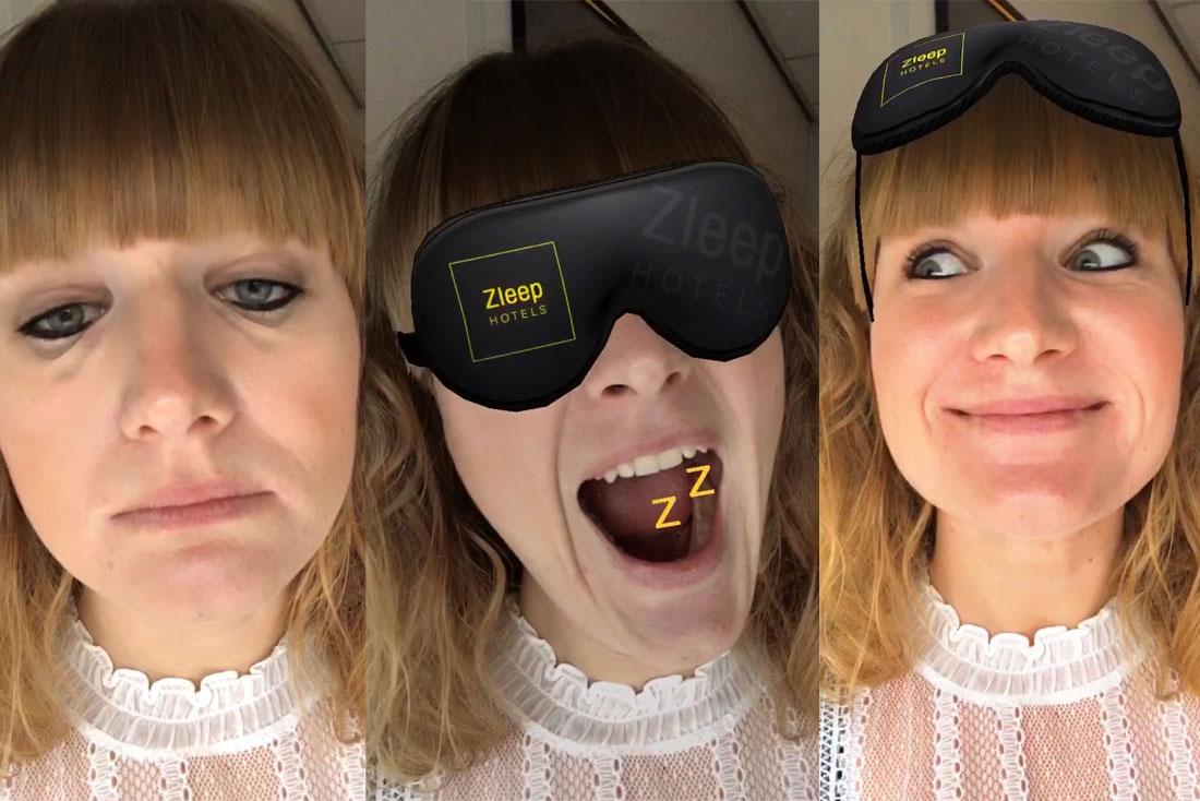 A Good Night's Zleep AR Filter | Zleep Hotels