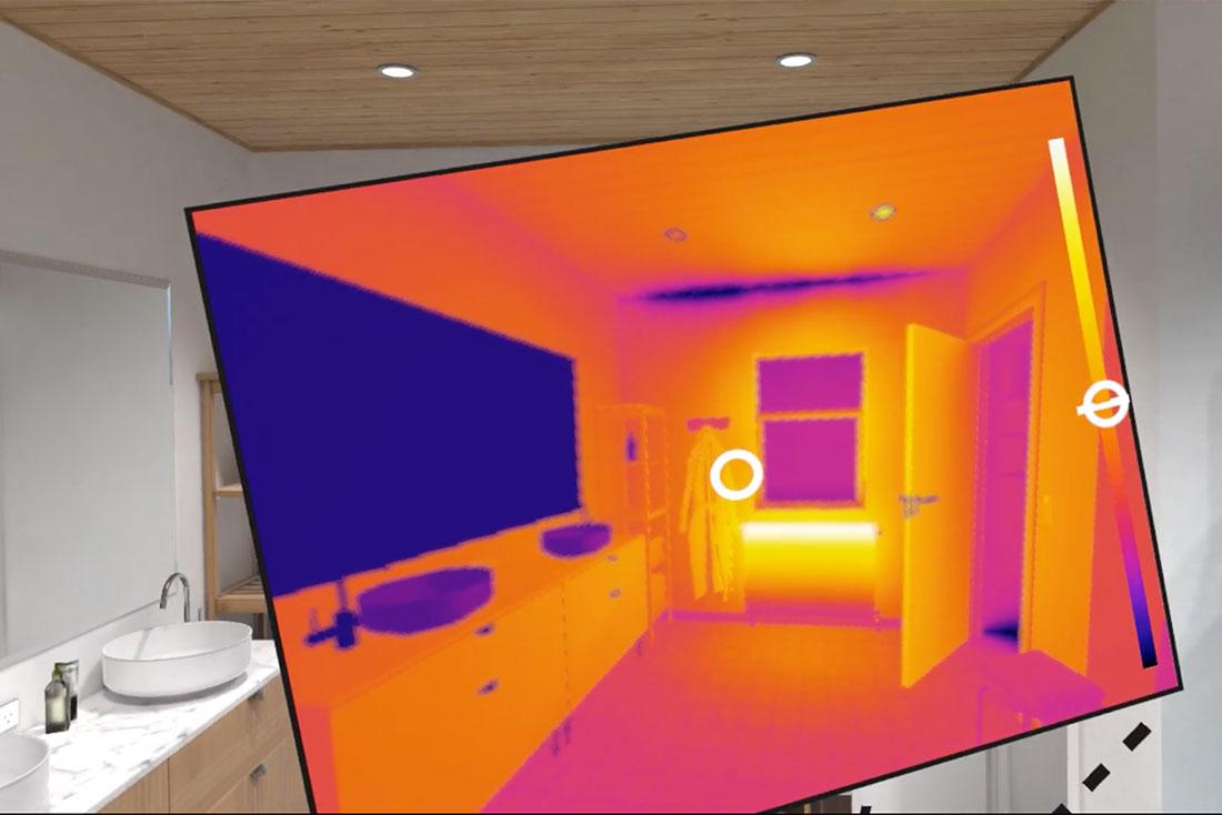 VR-simulation af termografisk bygningsinspektion | Videnscenter for Håndværk, Bæredygtighed, Klimarenovering og Byggeri