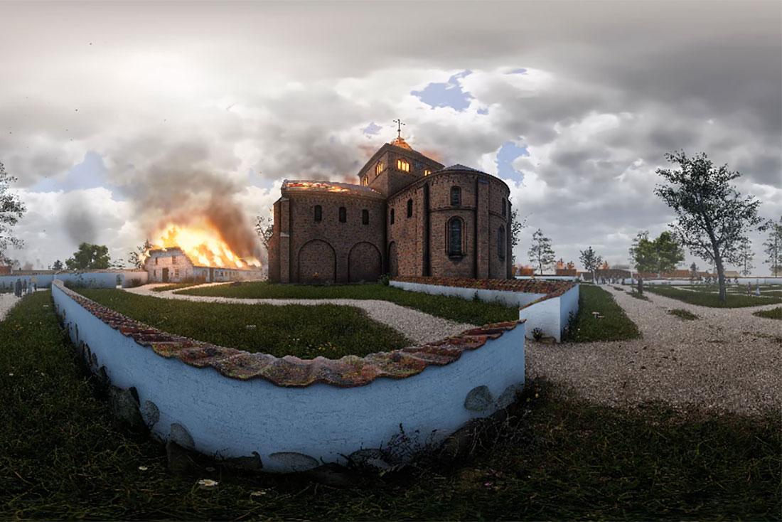 The 1806 Fire at St. Bendt's Church | Museum Vestsjælland